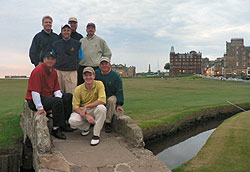 Pete Johnson group at The Old Course St. Andrews